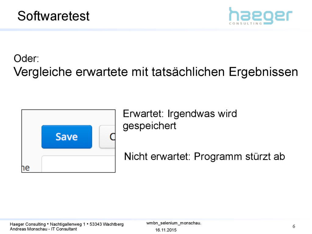 16.11.2015 Haeger Consulting • Nachtigallenweg ...