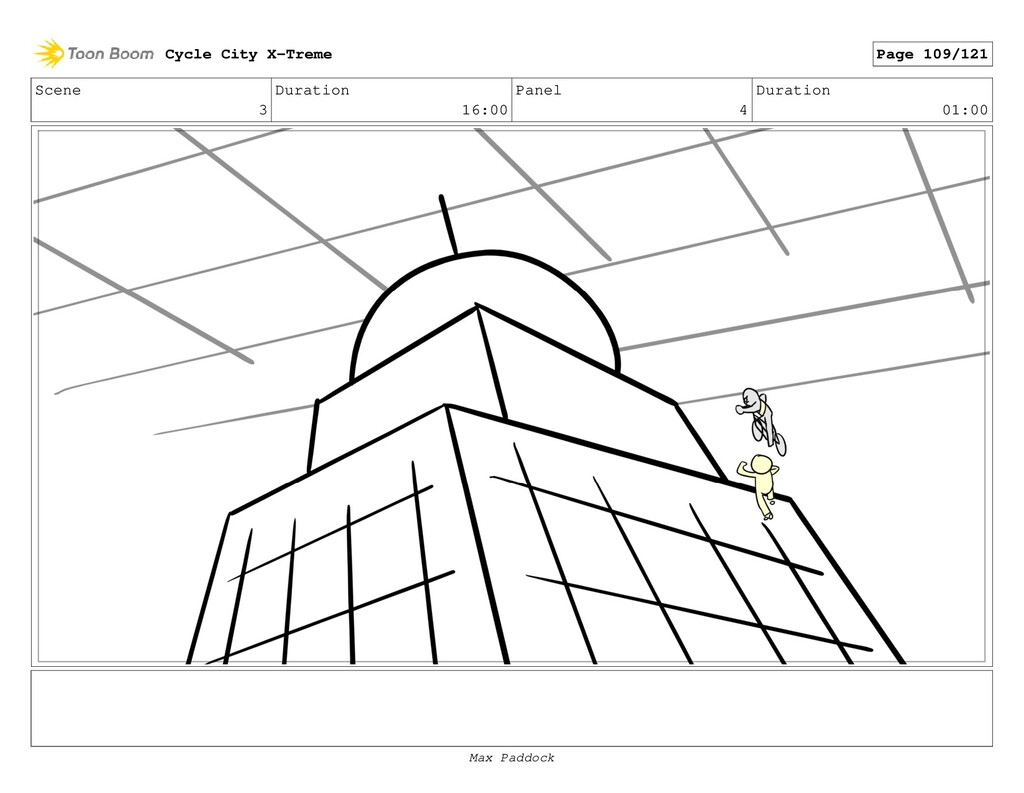 Scene 3 Duration 16:00 Panel 4 Duration 01:00 C...