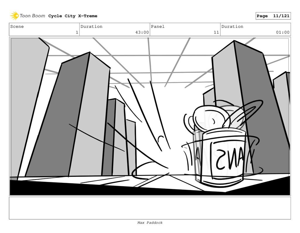 Scene 1 Duration 43:00 Panel 11 Duration 01:00 ...