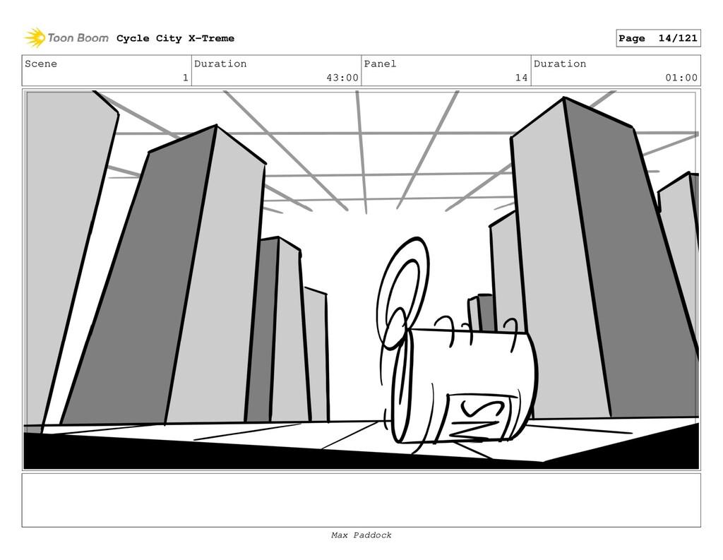 Scene 1 Duration 43:00 Panel 14 Duration 01:00 ...
