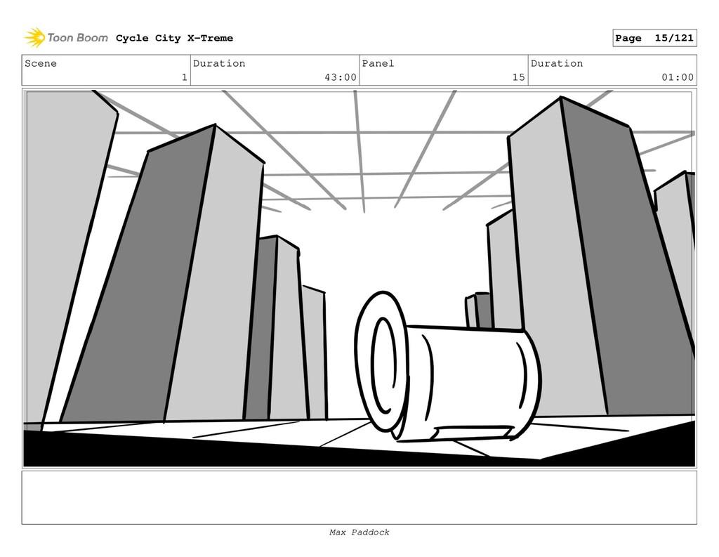 Scene 1 Duration 43:00 Panel 15 Duration 01:00 ...