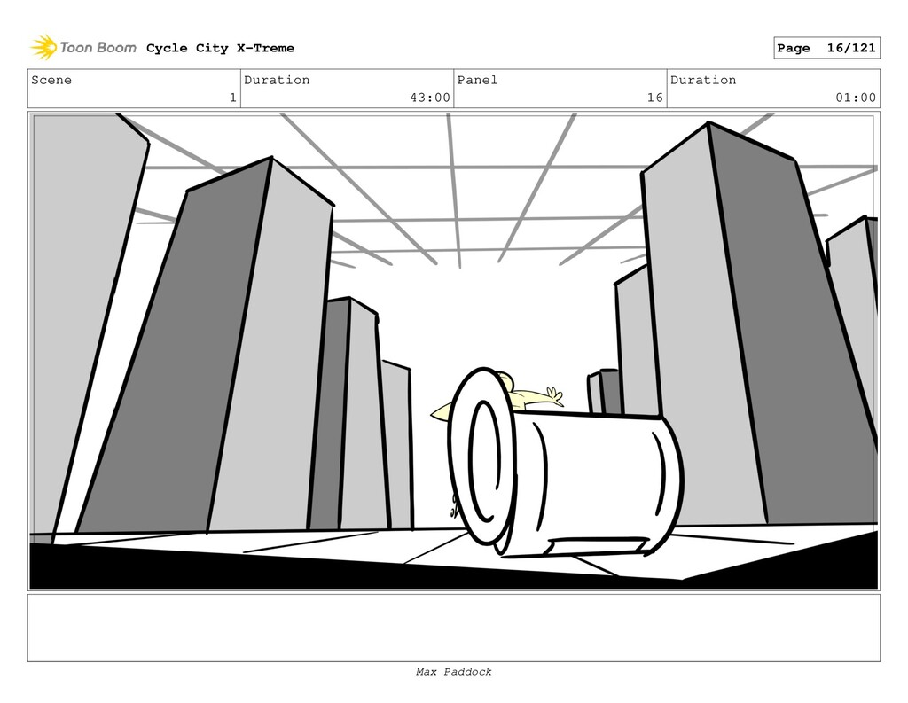 Scene 1 Duration 43:00 Panel 16 Duration 01:00 ...