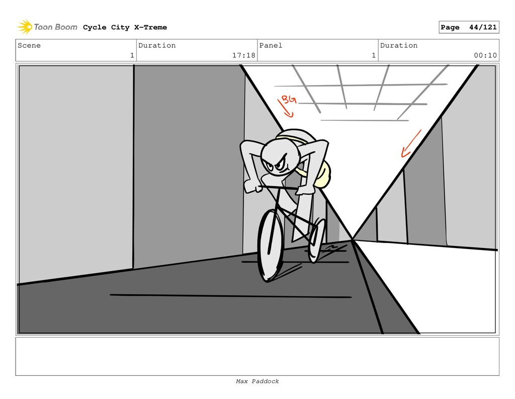 Scene 1 Duration 17:18 Panel 1 Duration 00:10 C...