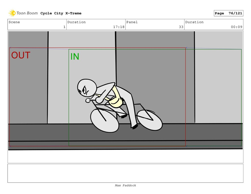 Scene 1 Duration 17:18 Panel 33 Duration 00:09 ...