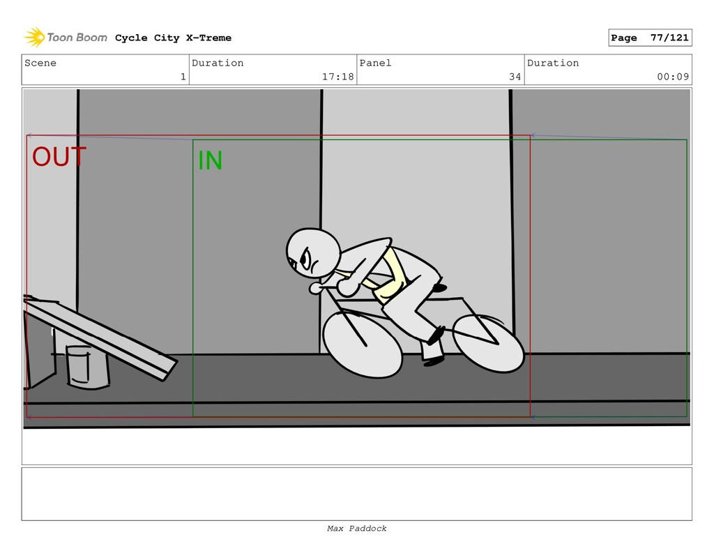 Scene 1 Duration 17:18 Panel 34 Duration 00:09 ...