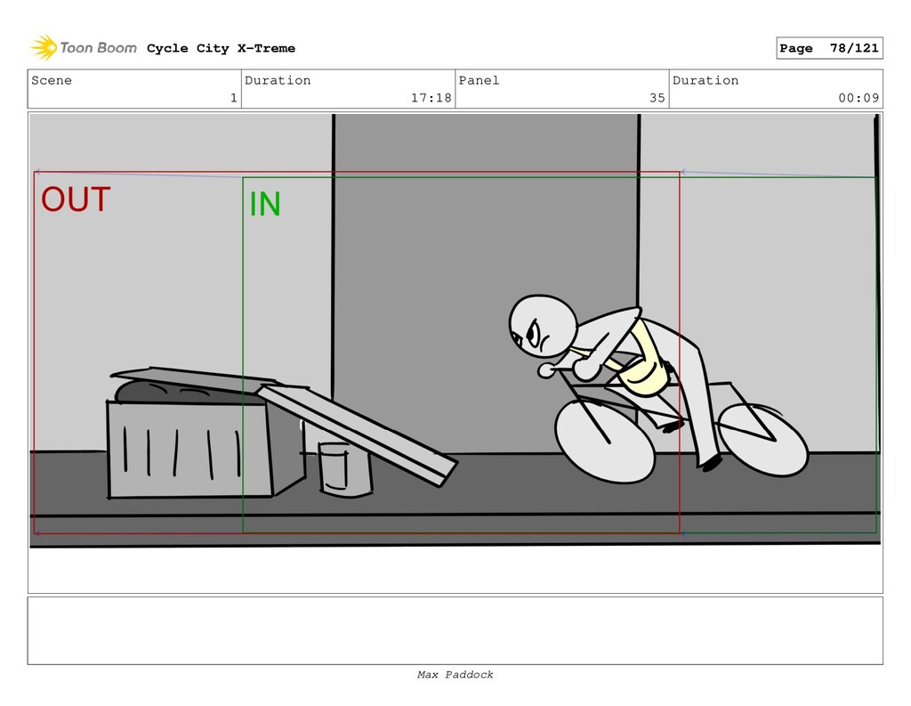 Scene 1 Duration 17:18 Panel 35 Duration 00:09 ...