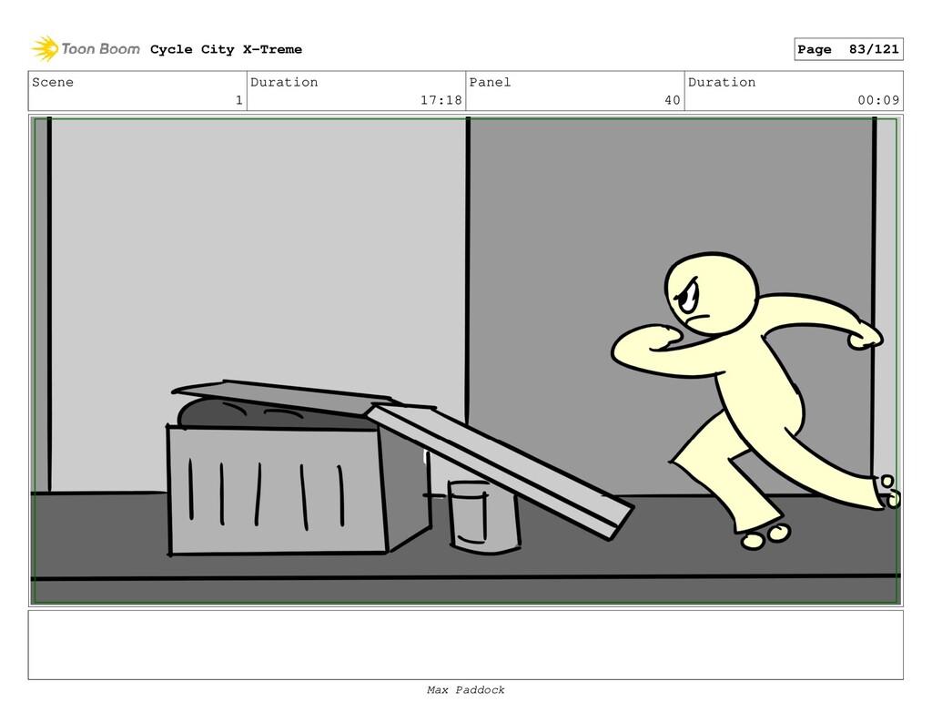 Scene 1 Duration 17:18 Panel 40 Duration 00:09 ...