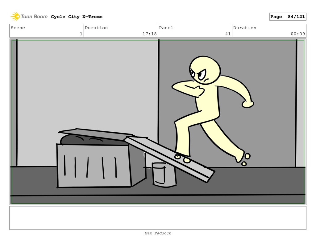 Scene 1 Duration 17:18 Panel 41 Duration 00:09 ...