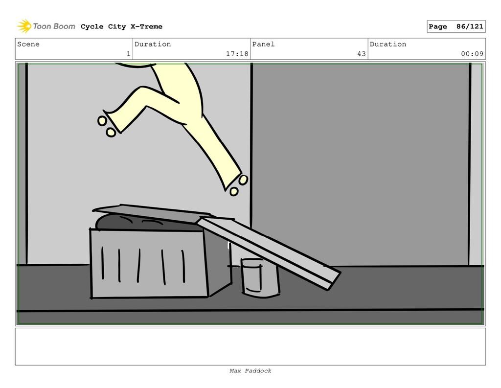 Scene 1 Duration 17:18 Panel 43 Duration 00:09 ...