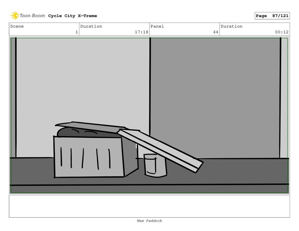 Scene 1 Duration 17:18 Panel 44 Duration 00:12 ...