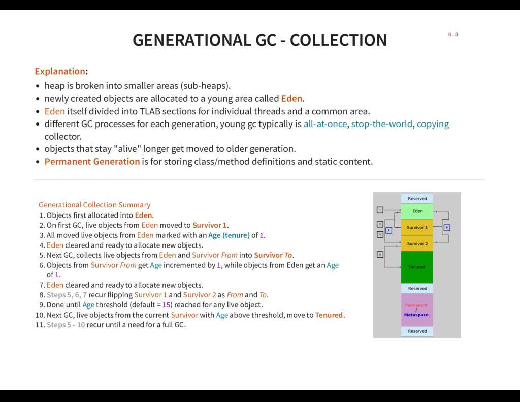 GENERATIONAL GC - COLLECTION GENERATIONAL GC - ...