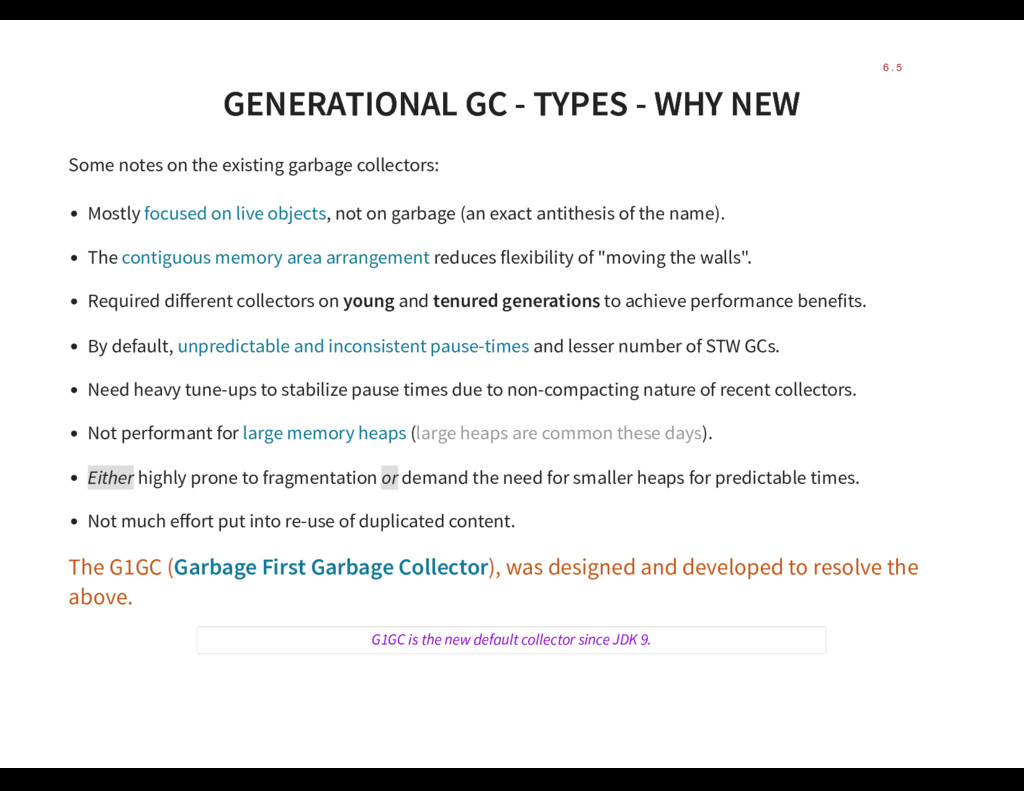 GENERATIONAL GC - TYPES - WHY NEW GENERATIONAL ...