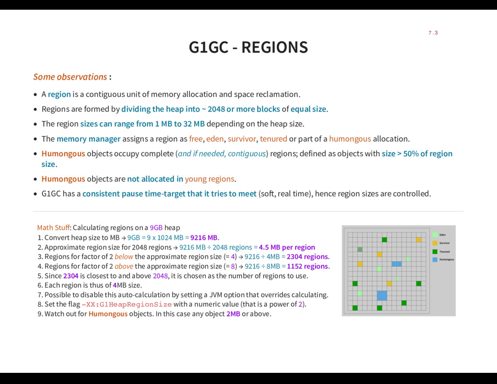 G1GC - REGIONS G1GC - REGIONS Some observations...