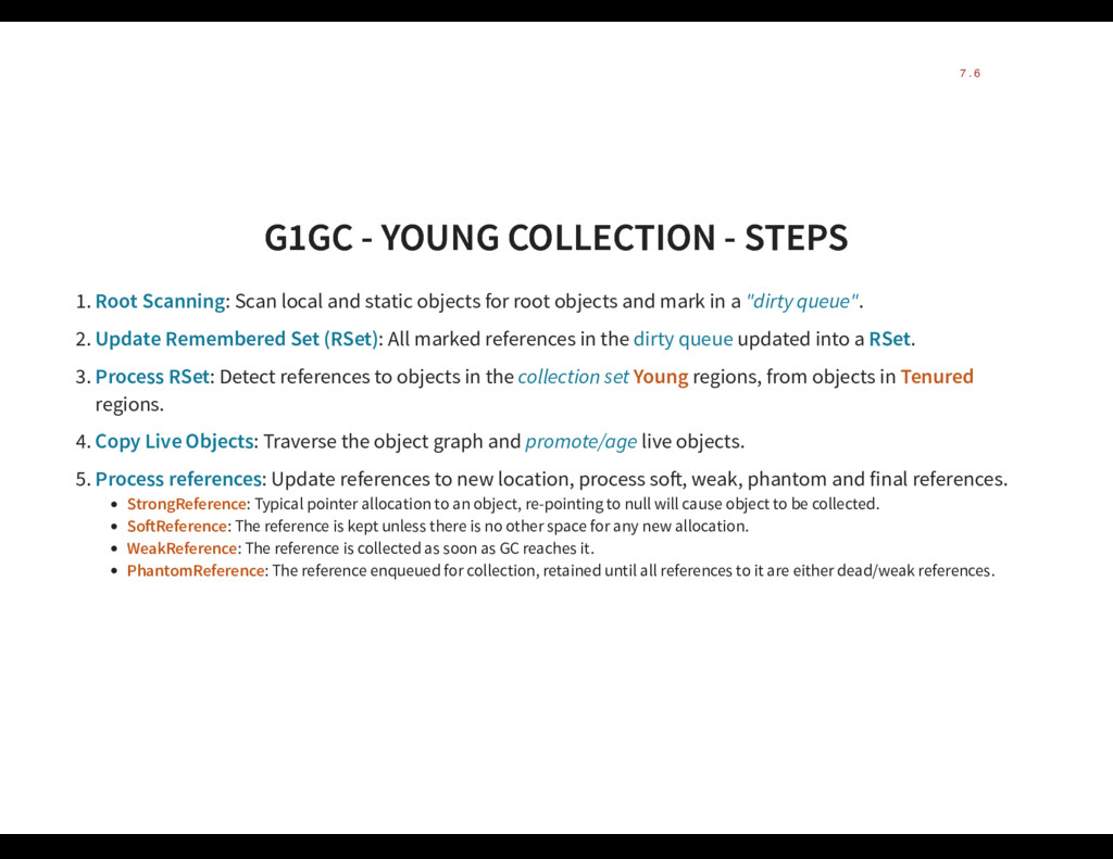 G1GC - YOUNG COLLECTION - STEPS G1GC - YOUNG CO...