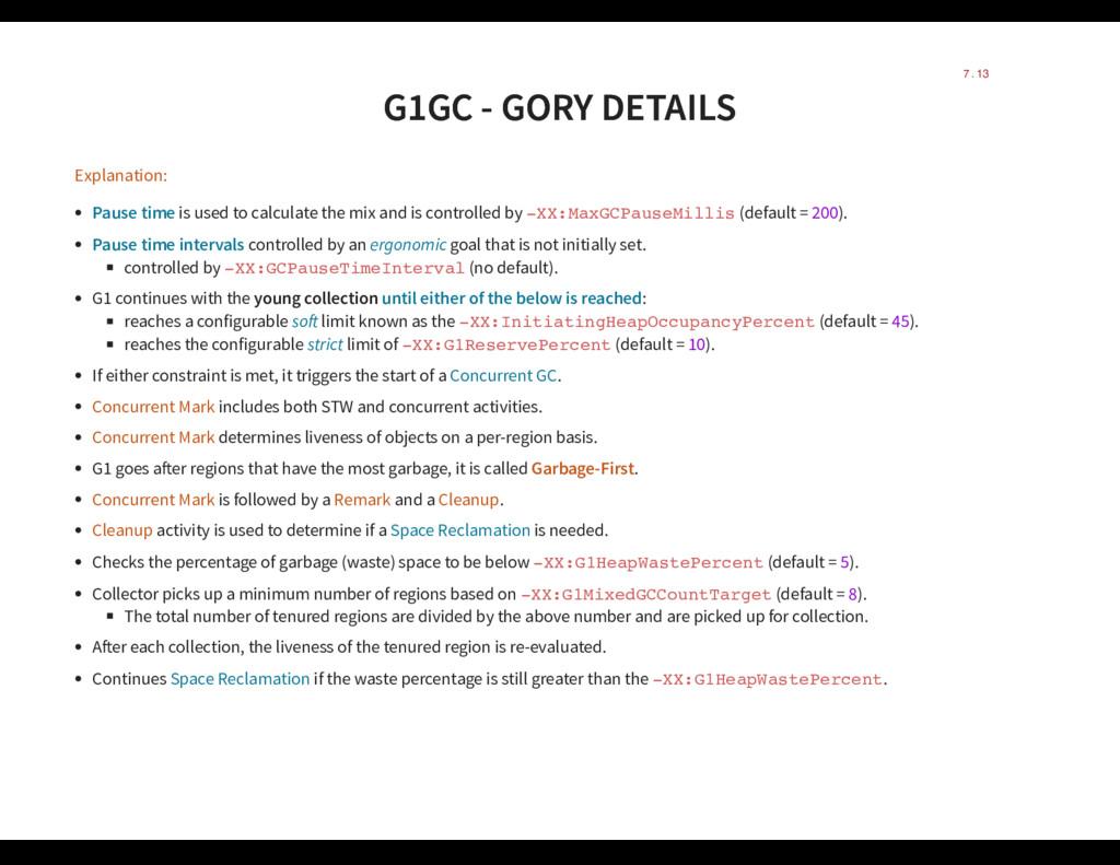 G1GC - GORY DETAILS G1GC - GORY DETAILS Explana...