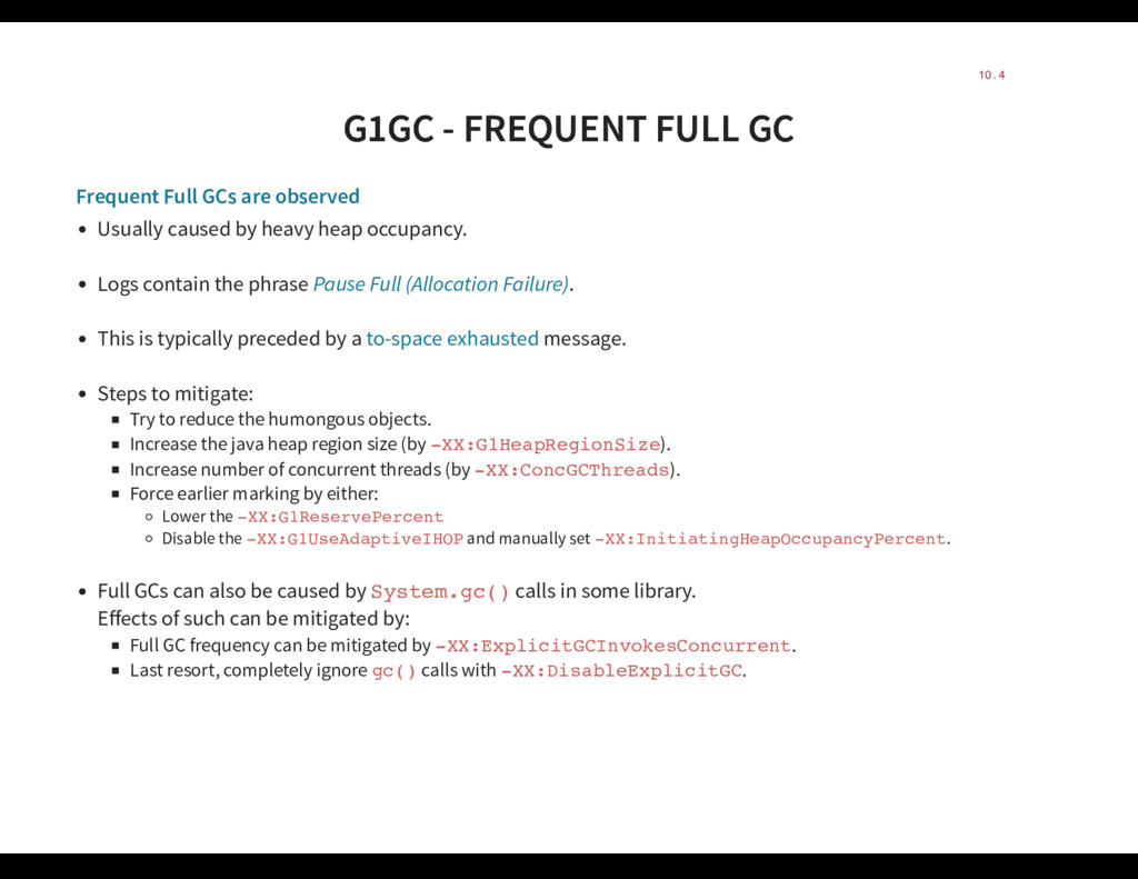 G1GC - FREQUENT FULL GC G1GC - FREQUENT FULL GC...