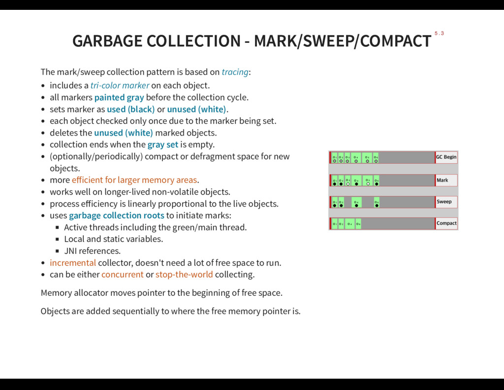 GARBAGE COLLECTION - MARK/SWEEP/COMPACT GARBAGE...