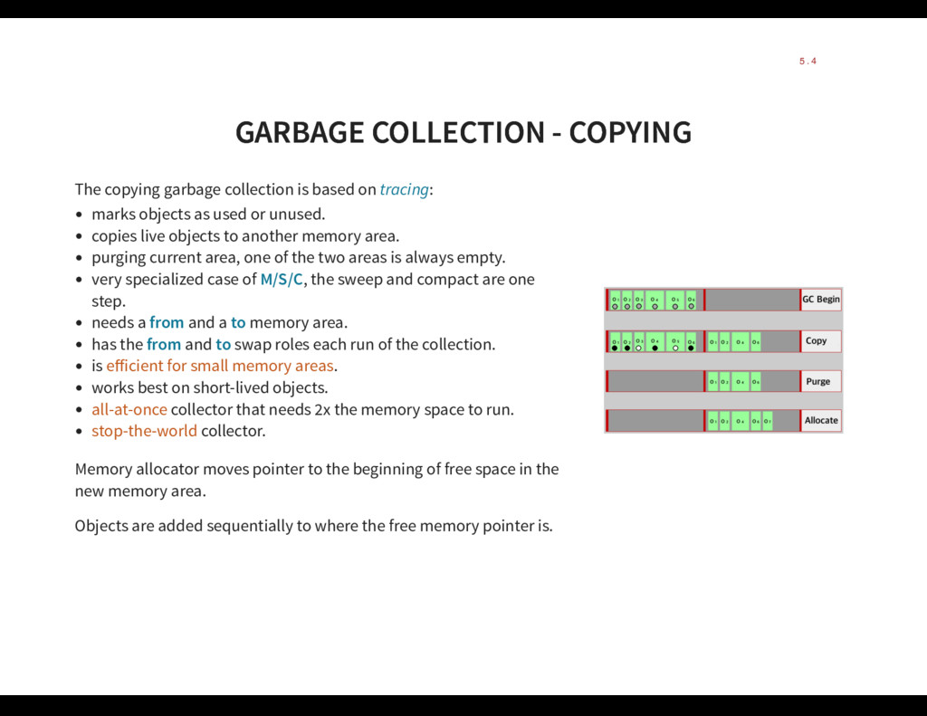 GARBAGE COLLECTION - COPYING GARBAGE COLLECTION...