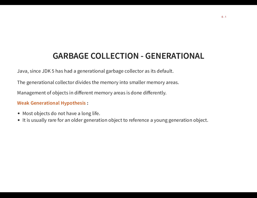 GARBAGE COLLECTION - GENERATIONAL GARBAGE COLLE...