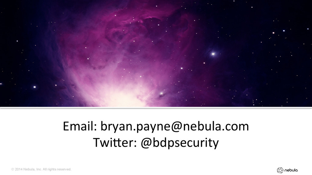 © 2014 Nebula, Inc. All rights reserved. Email:...