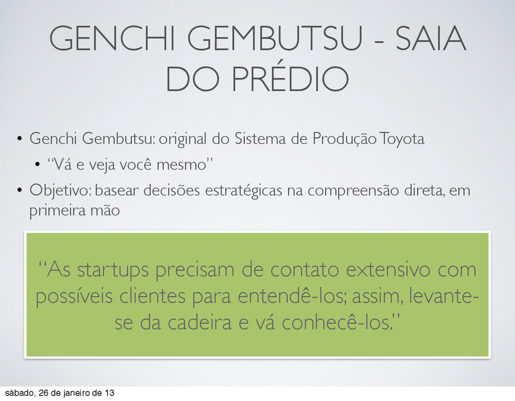GENCHI GEMBUTSU - SAIA DO PRÉDIO • Genchi Gembu...