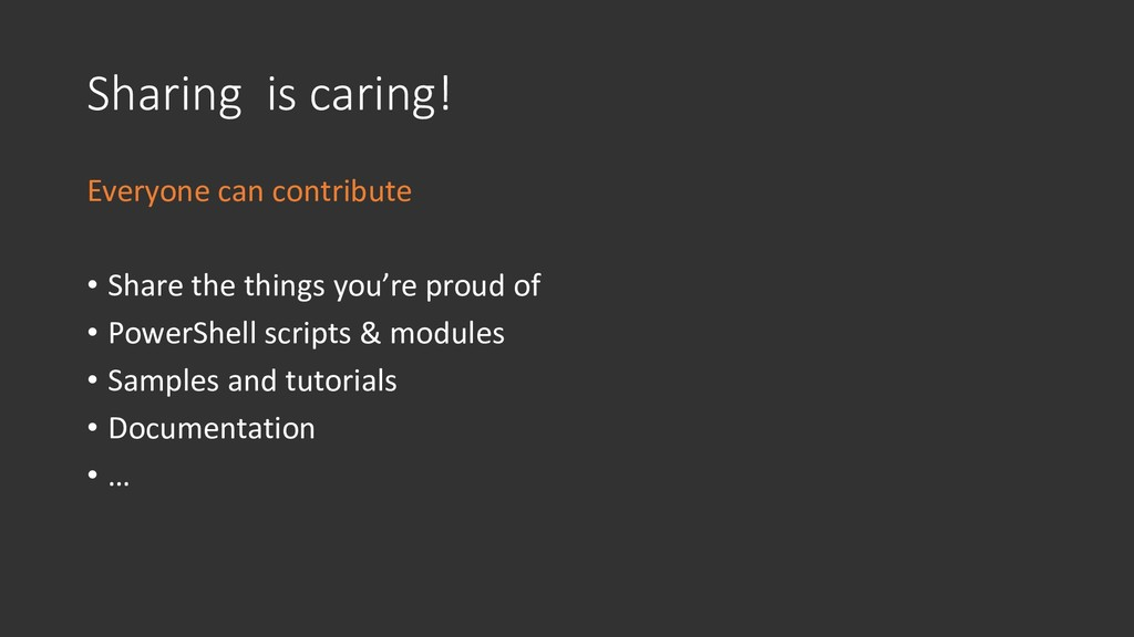 Sharing is caring! Everyone can contribute • Sh...