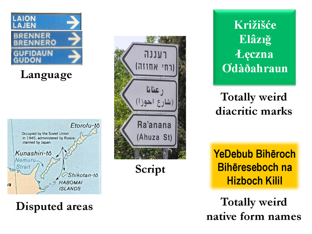 Script Language Disputed areas YeDebub Bihēroch...