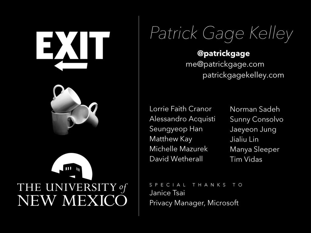 Patrick Gage Kelley @patrickgage me@patrickgage...