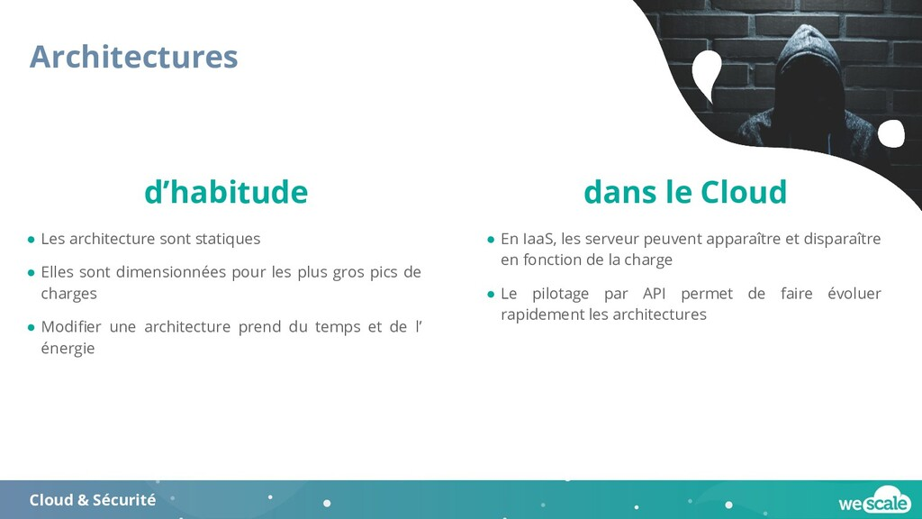 Architectures Cloud & Sécurité ● Les architectu...