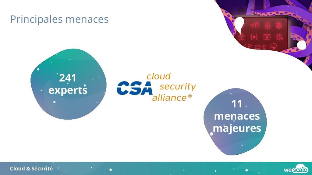 Principales menaces Cloud & Sécurité 241 expert...