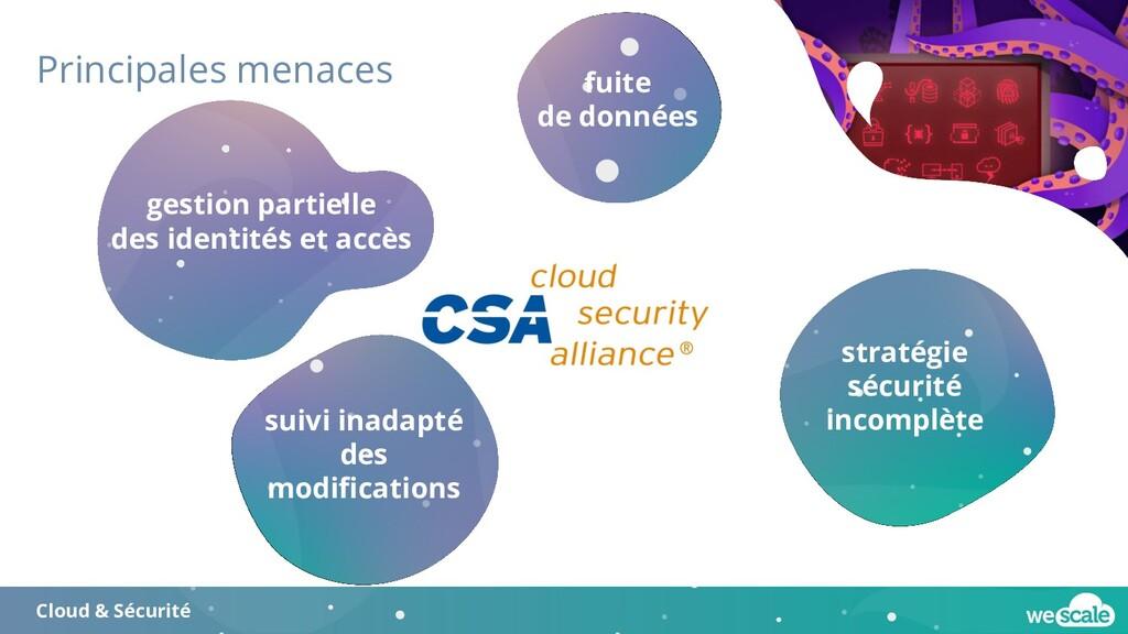Principales menaces Cloud & Sécurité stratégie ...