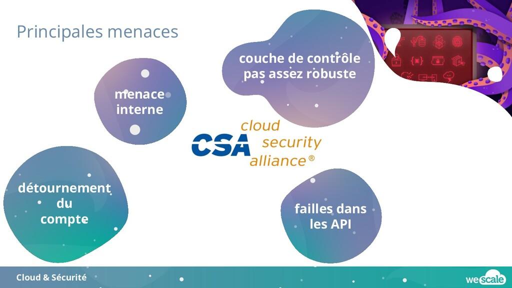 Principales menaces Cloud & Sécurité détourneme...