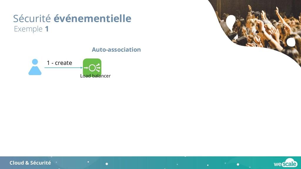 Sécurité événementielle Exemple 1 1 - create Lo...