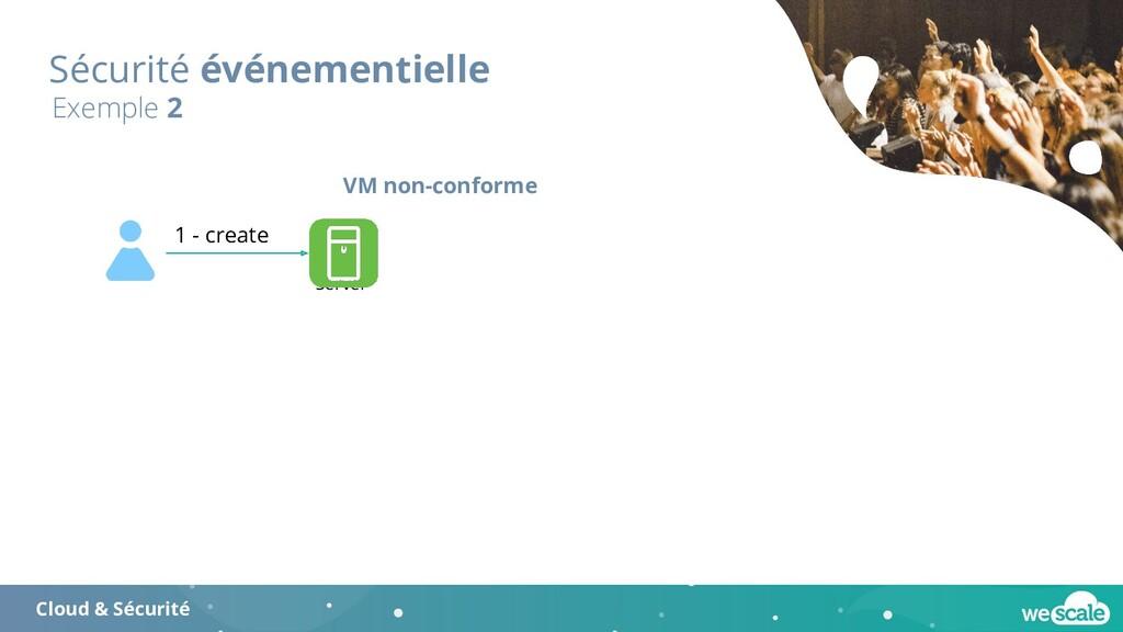 Sécurité événementielle Exemple 2 VM non-confor...