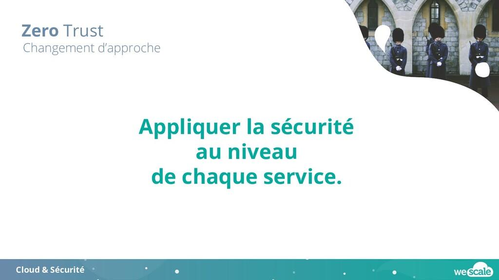 Zero Trust Cloud & Sécurité Changement d'approc...