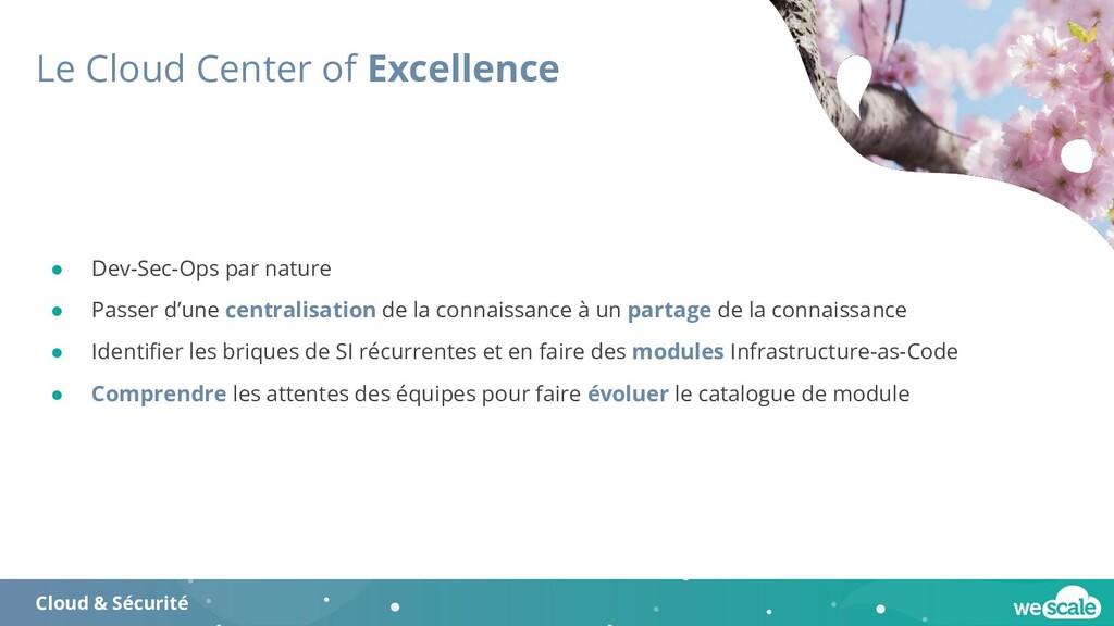 Le Cloud Center of Excellence Cloud & Sécurité ...