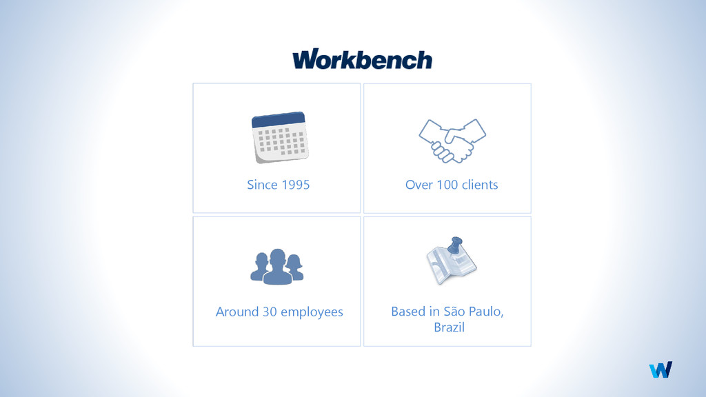 Since 1995 Over 100 clients Around 30 employees...