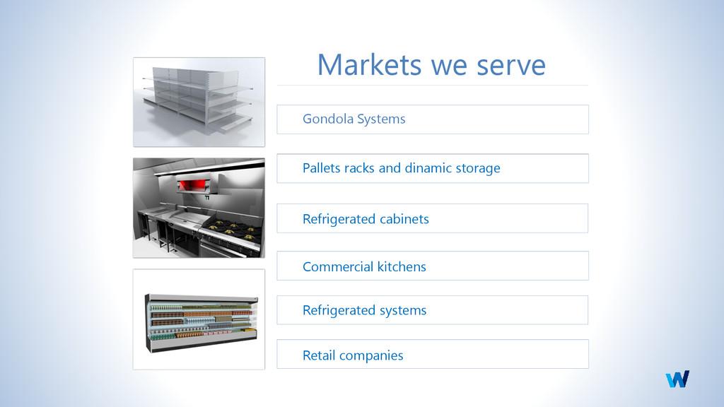 Markets we serve Gondola Systems Pallets racks ...