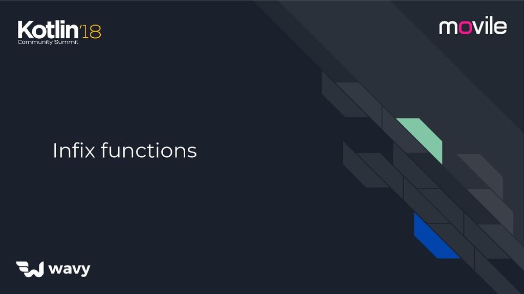Infix functions