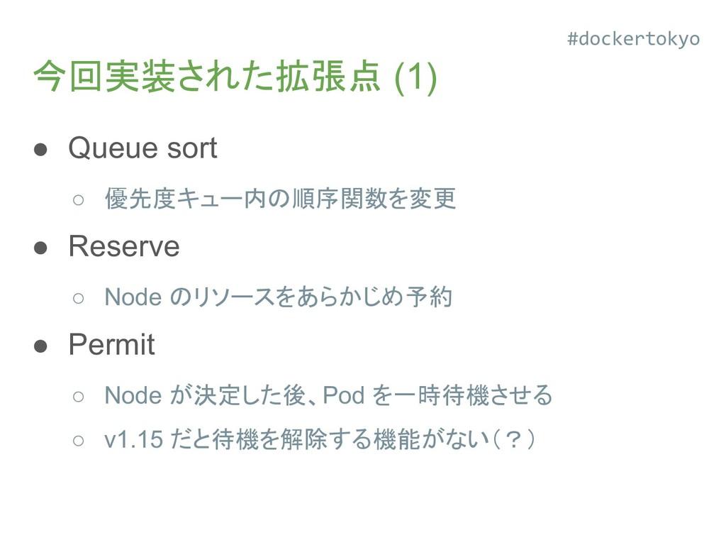 今回実装された拡張点 (1) ● Queue sort ○ 優先度キュー内の順序関数を変更 ●...