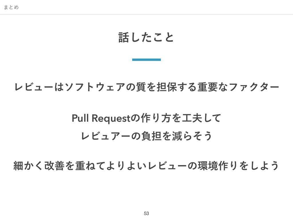 ·ͱΊ !53 ͨ͜͠ͱ ϨϏϡʔιϑτΣΞͷ࣭Λ୲อ͢ΔॏཁͳϑΝΫλʔ Pull ...