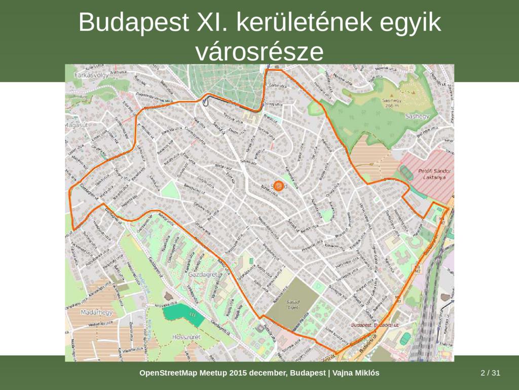 2 / 31 OpenStreetMap Meetup 2015 december, Buda...