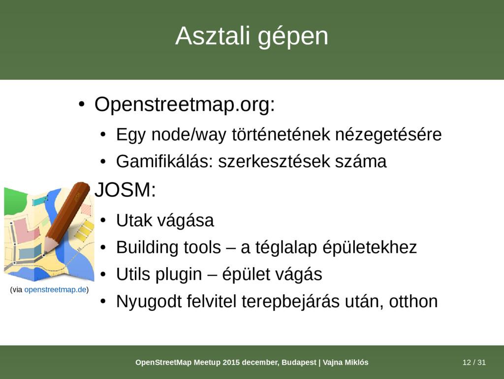 12 / 31 OpenStreetMap Meetup 2015 december, Bud...