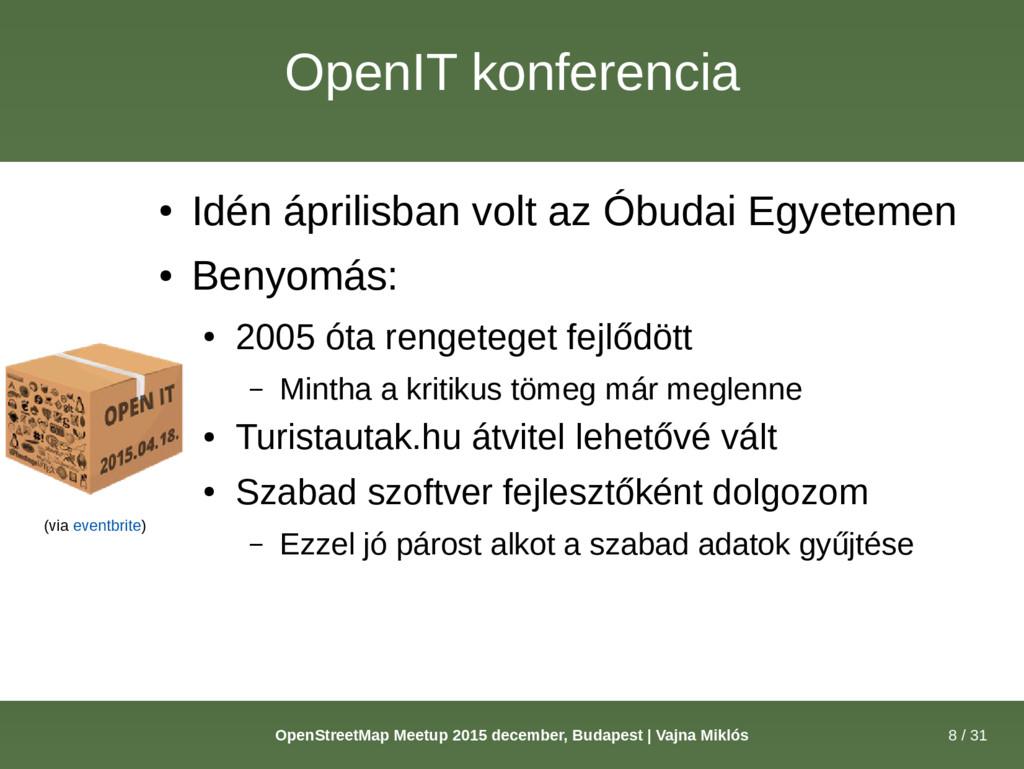 8 / 31 OpenStreetMap Meetup 2015 december, Buda...