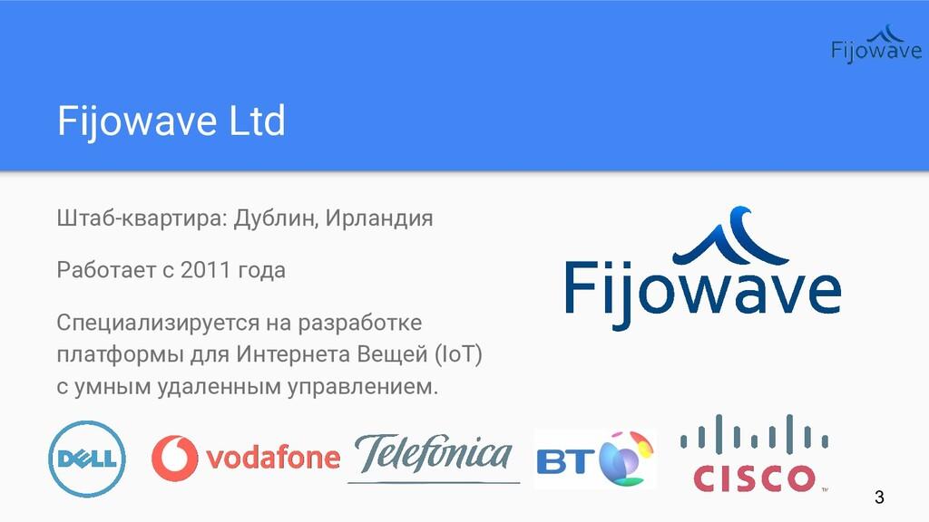 Fijowave Ltd Штаб-квартира: Дублин, Ирландия Ра...