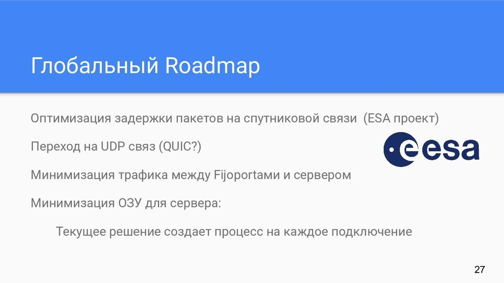 Глобальный Roadmap Оптимизация задержки пакетов...