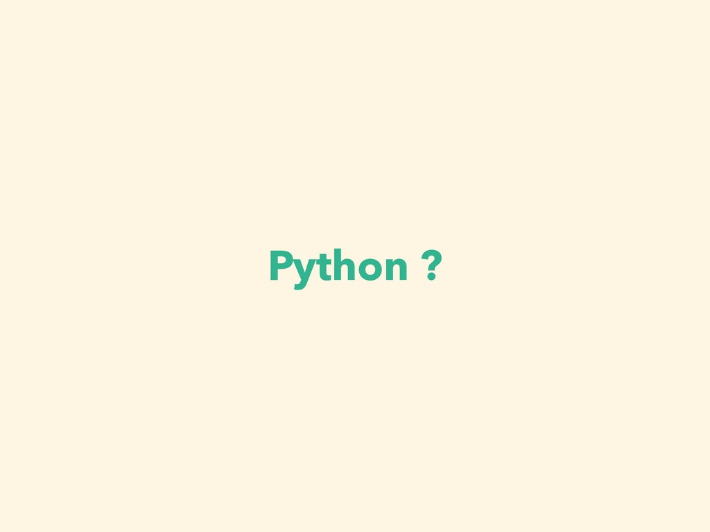 Python ?