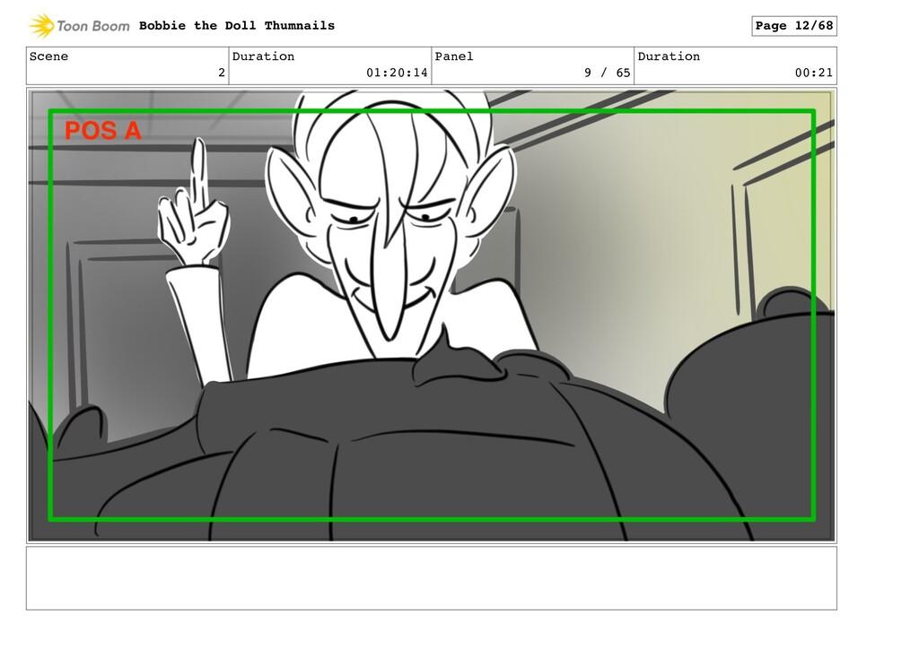 Scene 2 Duration 01:20:14 Panel 9 / 65 Duration...