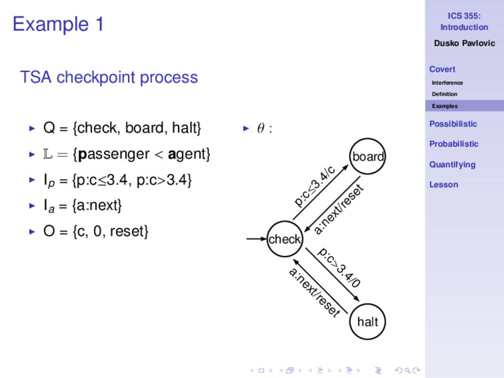 ICS 355: Introduction Dusko Pavlovic Covert Int...
