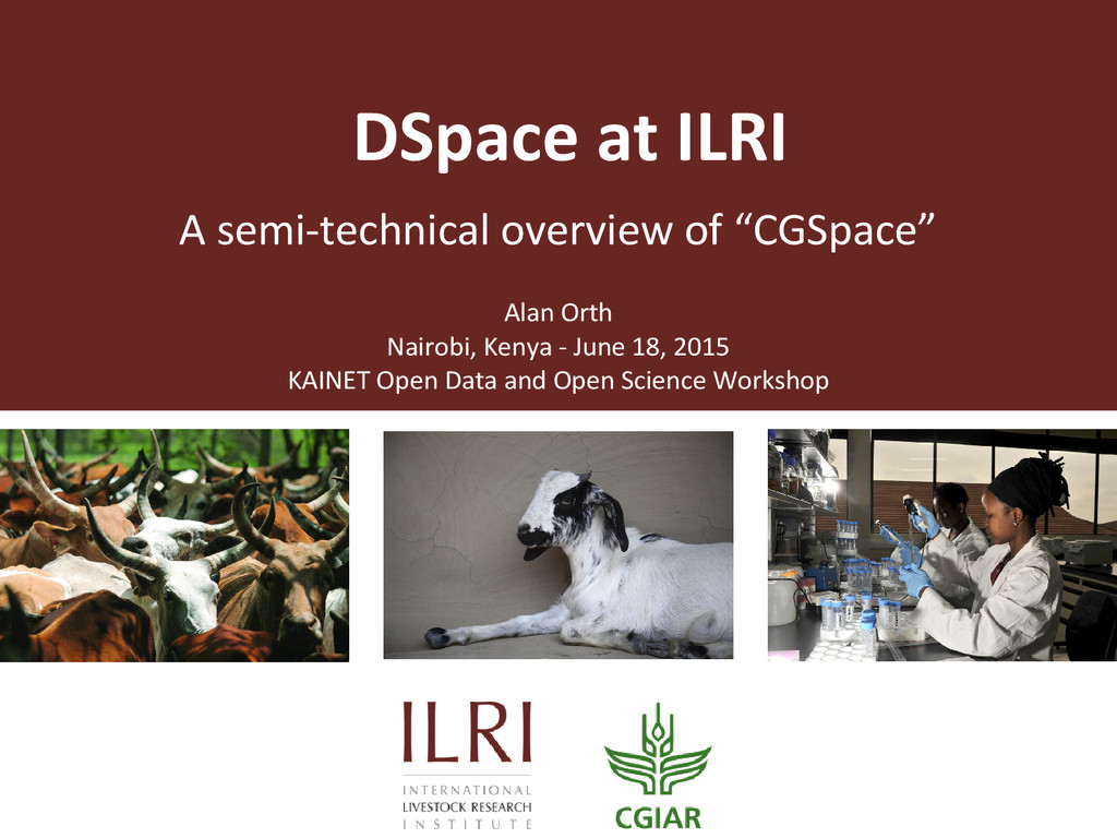"""A semi-technical overview of """"CGSpace"""" DSpace a..."""